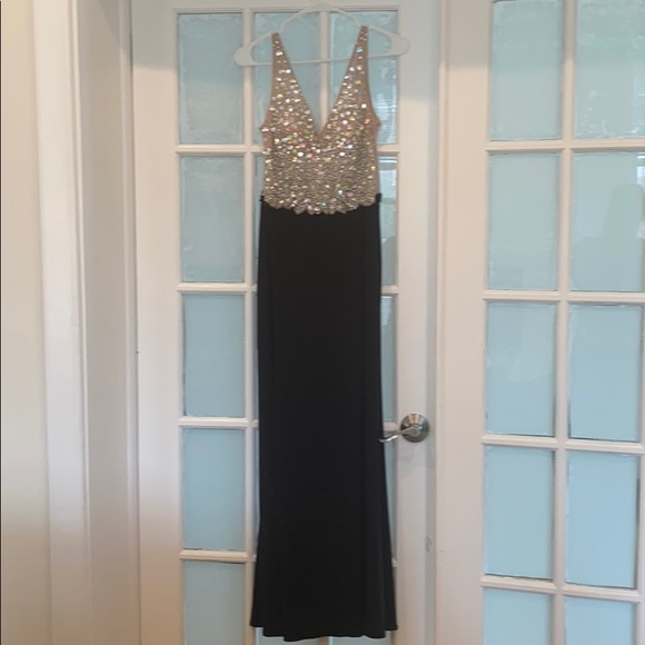 Long formal dress with a slit